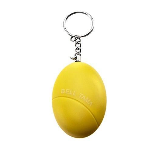 Kobert Goods Personal Alarm sleutelhanger met pen om uit te trekken in 4, alarminstallatie, zelfverdediging, zelfverdediging geel