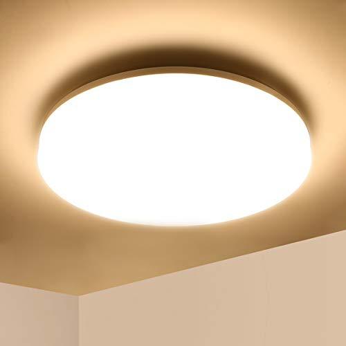 Lámpara de Techo LED 36W Ketom IP44 Blanco Cálido 3000K Plafón de...