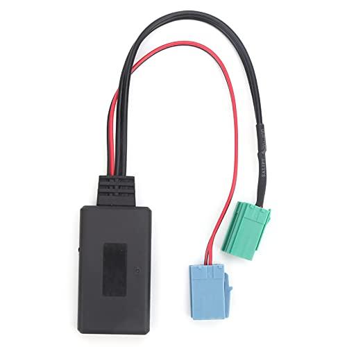 Deror Auto Audio Adaptador Mini ISO 6Pin 8Pin Conector Bluetooth 5.0 Cable AUX para Renault Clio/Espace/Kangoo/Laguna