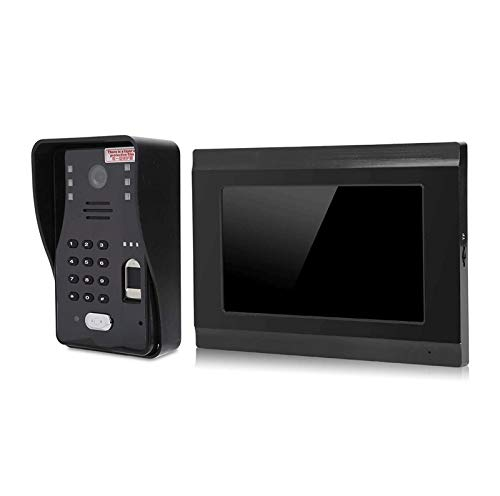 YQQQQ Sistema Video del Intercomunicador del Timbre del Teléfono de La Puerta 1080P con Pantalla a Color de 7 Pulgadas, Timbre Video Resistente a La Intemperie (Color : Black)
