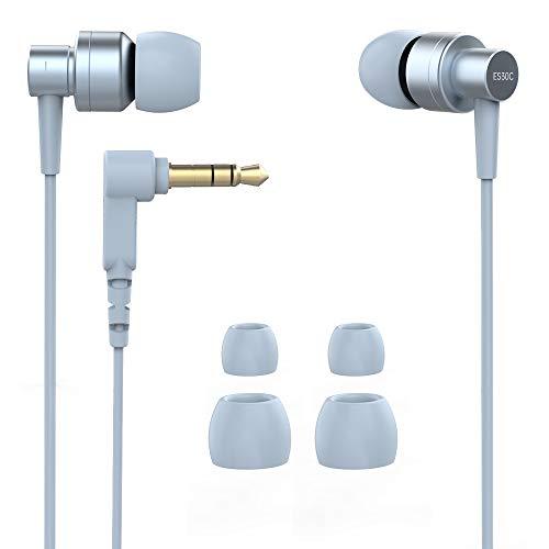 In Ear Kopfhörer,SoundMAGIC Kopfhörer Smartphone Headphones Leistungsstarke Bass kabelgebundene Ohrhörer Geräuschisolierung Ohrstöpseln mit Mikrofon Gaming Ohrhörer HiFi-Sound (ES30C, Blue)