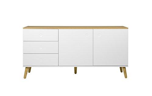 Tenzo 1675-454 Dot Designer Sideboard Holz,  43 x 162 x 79 cm