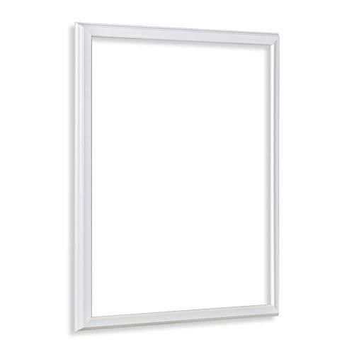 Bildershop-24 Leerrahmen (ohne Rückwand und Glas) Barockrahmen Kalypso 80 X 120 cm Weiß (matt) Farbe und Größe wählbar