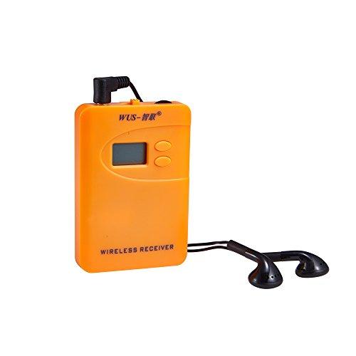 ZLWUS 800R Receptor Para UHF794~806MHz Digital AudioGuias y AudioGu¨ªas - Tour Guiding, Ense?anza ,Visiting and Conference - 1 Receptor Only (Orange)