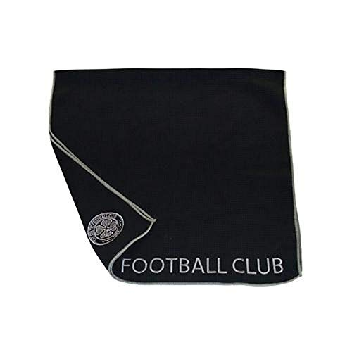 Celtic FC Official Aqualock Caddy Towel (One Size) (Black)