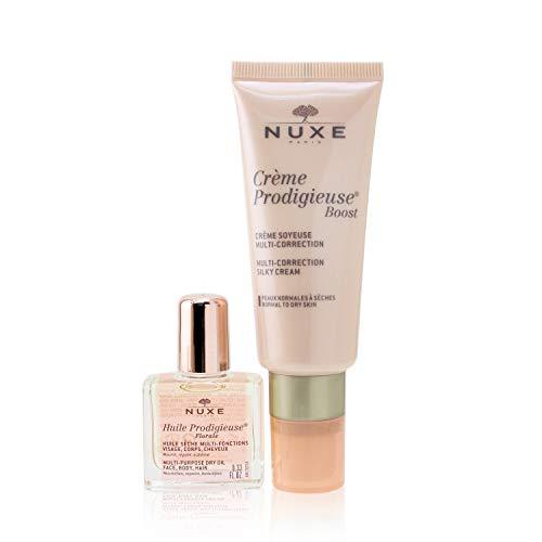 Nuxe Crème Prodigieuse Boost Crème Soyeuse Multi-Correction 40 ml + Huile Prodigieuse Florale Visage-Corps-Cheveux 10 ml Offert