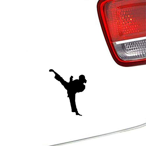 sticker carro Decoración Chino Kung Fu Ventana Calcomanía Puerta Trasera Camión Master Legend Mujeres Karate Taekwondo 13X16 Cm Para Coche Portátil Ventana Pegatina