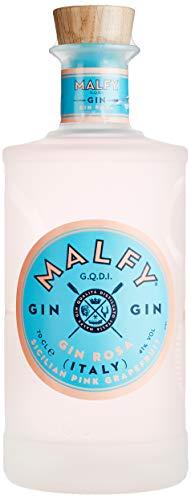 Malfy Gin Rosa – Premium Gin aus Italien mit Pink Grapefruit und Rhabarber – Hochprozentiger Alkohol mit 41 % Vol – 1 x 0,7L