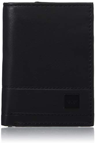 Dockers Men s Extra Capacity Trifold Wallet Black Zip One Size product image