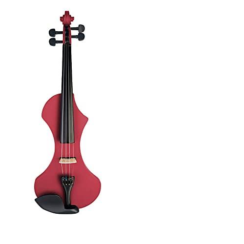 Violín eléctrico 4/4 tamaño completo violín silencioso de madera sólida conjunto adecuado...