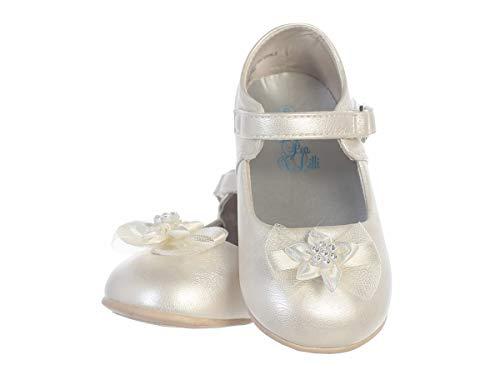 iGirlDress Infant Toddler Girls Straps Flower Girls Shoes S116 Ivory Size 4