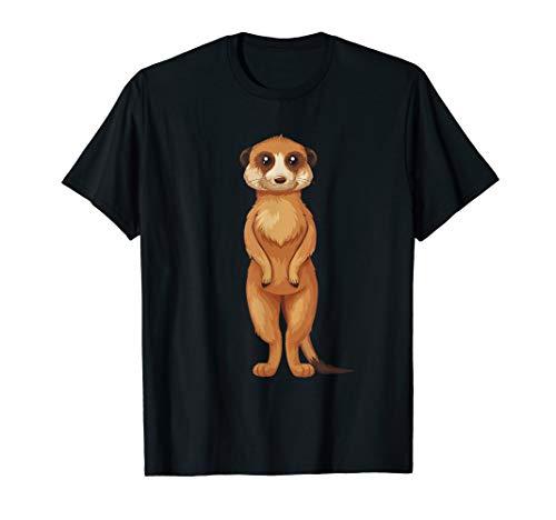 Lustiges Erdmännchen T Shirt Meerkat Geschenk T-Shirt