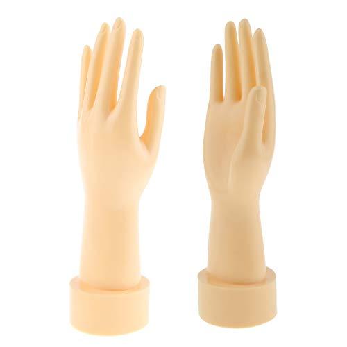 joyMerit Packung mit 2 Damen Schaufensterpuppen Hände Fingermodell Handschuh Armband Armreif Schmuck Display Stand Manikin