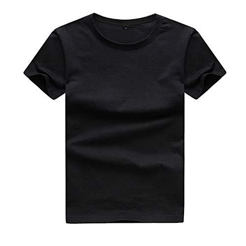 lilii kupulau キッズ 半袖 Tシャツ クルーネック 無地 丸首 ティーシャツ 120 ブラック