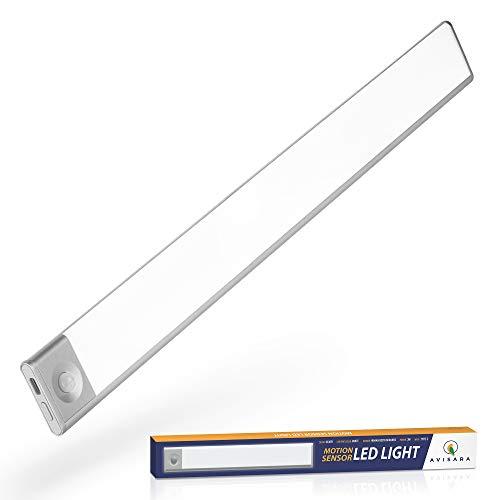 AVISARA Unterbauleuchte Küche Led Batterie - Schrankbeleuchtung Led Bewegungssensor 40cm - Unterschrankleuchte Küche 72 Led Sensor Lich Batteriebetrieben mit Bewegungsmelder Nachtlicht