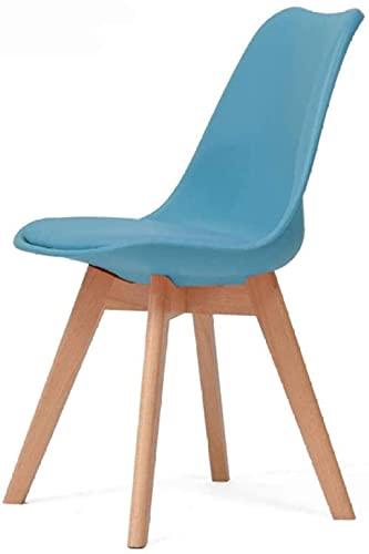 WANGXIAOYUE Silla de escritorio de madera maciza con bloque de construcción para el hogar, silla de comedor para adultos, naranja, gris, color: verde (color: naranja) silla de rodillas (color: azul)