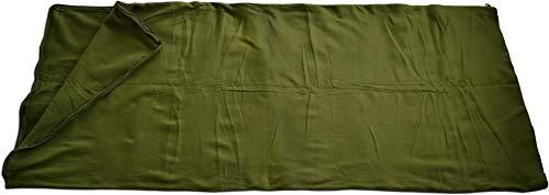 normani Fleece Schlafsack - 190 x 75 cm - 200 g/m² - auch als Inlett verwendbar Farbe Oliv