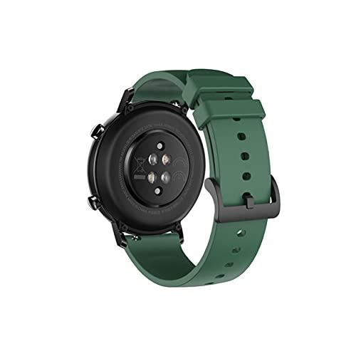 XUEXIU Banda de Reloj de Silicona de 20 mm para Huawei Watch GT2 42mm Soft Sport Correa para Samsung Galaxy 42mm Active2 Gear S2 Pulsera de Banda de Reloj (Color : 1)