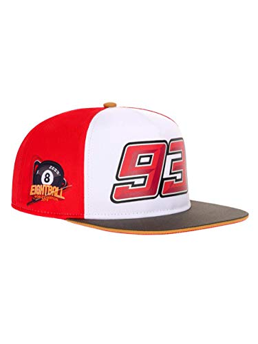 Marc Marquez 93 Moto GP World Champion 8 Ball Flat Peak Gorra Oficial 2019