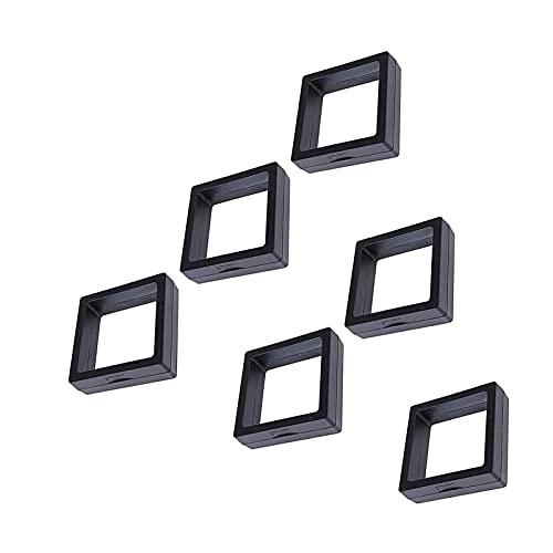 AHURGND EDUCACIÓN FÍSICA Caja de exhibición de la joyería de la suspensión de película delgada, caja de contenedor transparente, organizador de caja de joyería, soporte de anillo de pantalla de exhibi