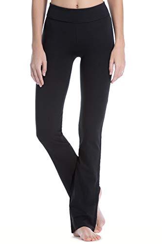 Fishers Finery Women's Ecofabric Classic Bootleg Yoga Athletic Pant (Black, L)