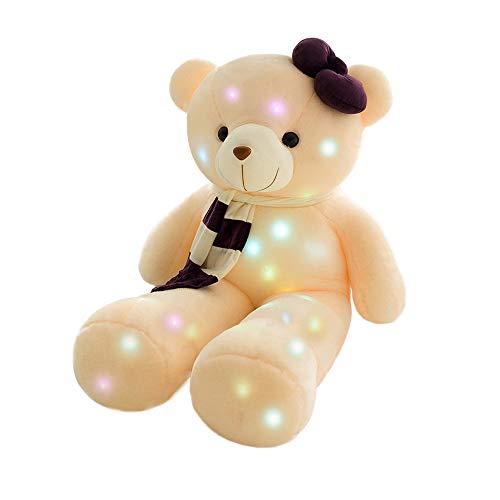 HKANG Bluetooth Lichtemittierendes Teddybären Plüsch Puppe Spielzeug EIN Bär, der leuchten und singen Wird 95CM