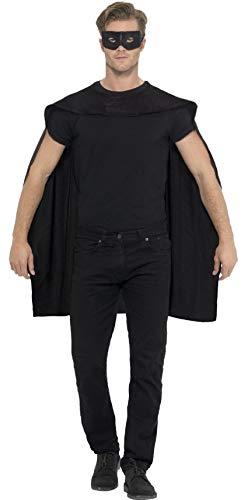 Femmes Hommes Noir Super Héros Cape & Masque Yeux Halloween Déguisement Costume Tenue Accessoire
