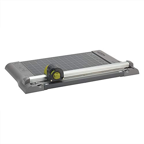 """Swingline Paper Trimmer, Rotary Paper Cutter, 12"""" Cut Length, 5-10 Sheets Capacity, Dial-A-Blade, SmartCut (9413B)"""