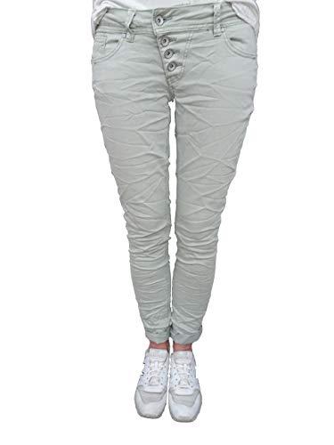 Buena Vista Jeans Malibu Stretch Denim Jeans Hose Strechjeans (M, Grau)