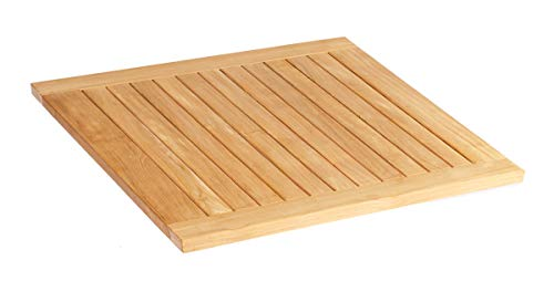Sonnenpartner Tischplatte Pure Teak Natur 90x90 cm