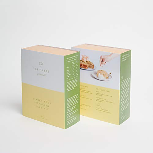 Ginger Pear Pistachio Cake Mix - Includes Cake Mix, Glaze Mix and Decorations, All Natural, Made With Spelt Flour, Vegan Friendly
