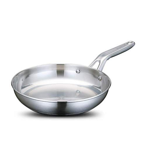 Household products - LJW 304 Sartén de acero inoxidable Freying Pan de freír pan antideslizante Pan Steak Ollet Pan PAN INDUCCIÓN COCINA DE INDUSTRIAL APLICABLE 24 CM  Código de productos bási