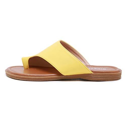 Separador de la plataforma de las mujeres embarazadas de la plataforma de las mujeres de los toe de ocio del ocio para las señoras zapatos planos de la plataforma de las mujeres |Zapatos de playa: zap