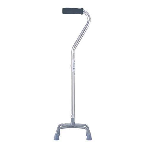 Bastón cuadrúpedo ajustable con base pequeña, mango cómodo, el bastón proporciona apoyo adicional y estabilidad (color: A)