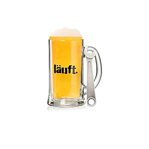 Ritzenhoff & Breker - Boccale da birra con motivo + apribottiglie, set regalo