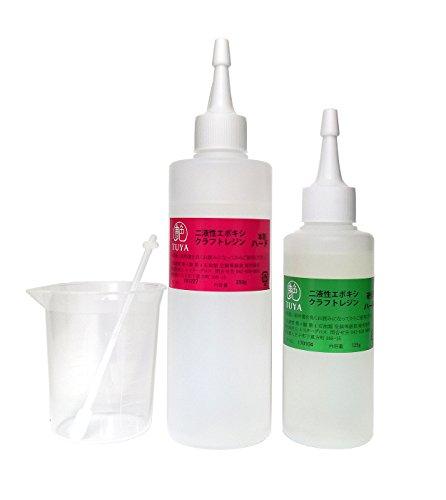 艶二液性エポキシクラフトレジン液【ハード】本剤250g/硬化剤125g