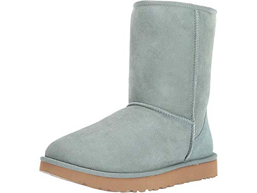 UGG Women's W CLASSIC SHORT II Fashion Boot, sea green, 6 M US