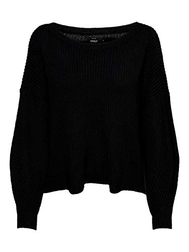 ONLY Damen Strickpullover Lockerer MBlack