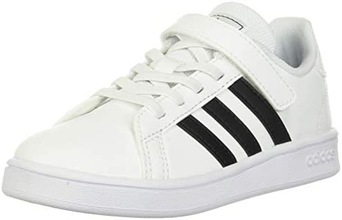 adidas baby boys Grand Court Kids Sneaker White Black White 5 5 Toddler US product image