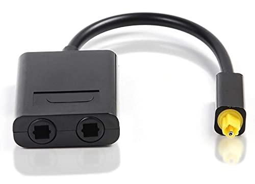 Dual Port Toslink Digital Optical Audio Splitter Adapter Audio Cable...