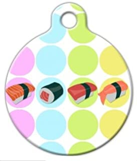 Sushi - Custom Pet ID Tag for Dogs and Cats - Dog Tag Art