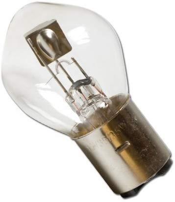 Lampe für Scheinwerfer 12V 35/35W, Ba20d Moped Roller Motorrad Quad + Bisomo Sticker