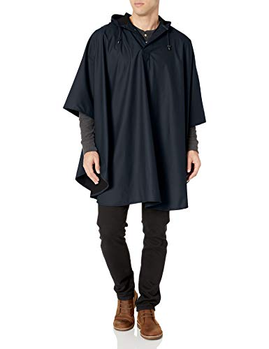 Charles River Apparel mens Pacific Rain Poncho, Navy, One Size US