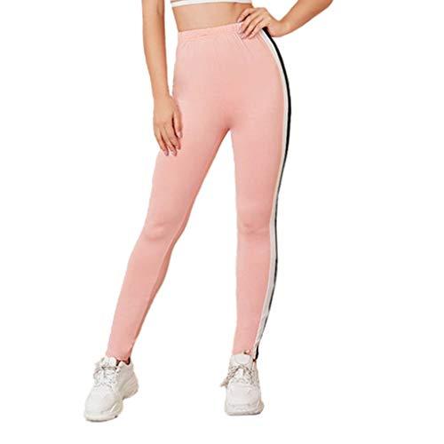 ZZBO Sport Leggins Yoga Sporthose Fitnesshose Damen Leggings Sexy Stretch Workout Tights Jogginghose Laufhose mit Streifen und Hohe Taille...