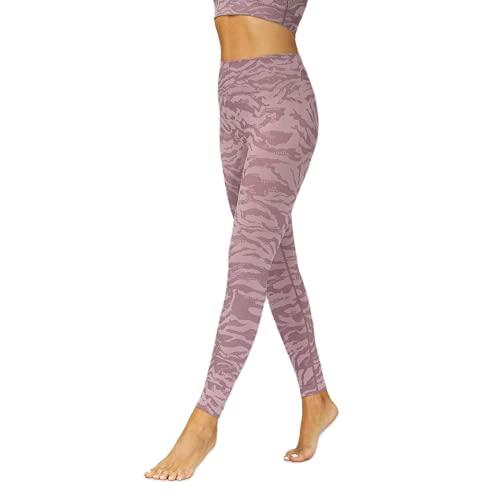 QTJY Pantalones de Yoga sin Costuras de Cintura Alta para Mujer, Mallas elásticas Suaves, Mallas de Secado rápido para Exteriores, Pantalones de Fitness, Pantalones de Yoga CM