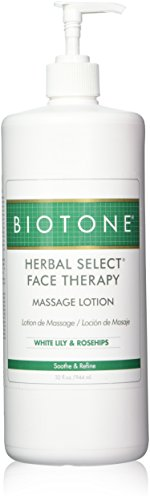 Biotone Herbal Select Massage Products Face Therapy Lotion, 32 Ounce