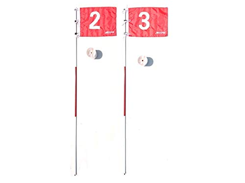 2sets*A99 Golf Portable Flag w. Cup Practice Hole Pole Backyard Putting Green #2#3