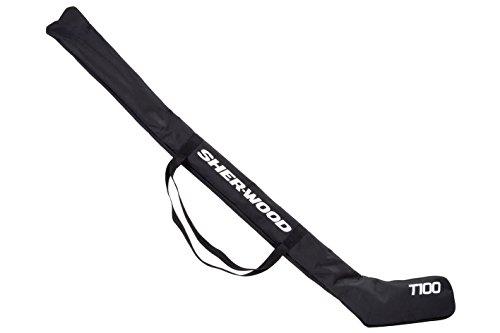 SHER-WOOD - Eishockeytasche T 100 True Touch I Tasche für Hockeyschläger I Hockey Stick Bag aus Nylon I Transporttasche für Eishockeyschläger inkl. Tragegurte I geeignet für 3-4 Schläger - Schwarz