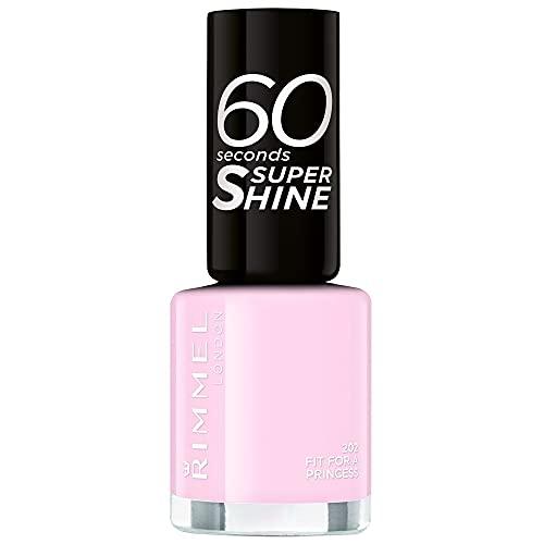 Rimmel - Vernis à Ongles 60 Seconds Super Shine Rita Ora - Ultra Brillance et Longue Tenue - Séchage rapide - 202 Fit for a Princess - 8ml