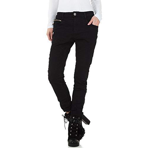 Ital-Design MOZZAAR Used Look Boyfriend Jeans Mozzaar Gr. M Schwarz